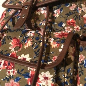 none Bags - Floral canvas backpack